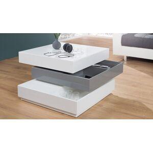 gdegdesign Table basse modulable carrée laquée blanche et grise - Chuck - Publicité