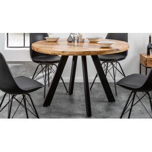 gdegdesign Table à manger ronde industriel bois 120 cm - Davis - Publicité