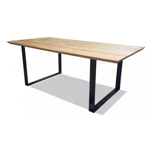gdegdesign Table à manger rectangulaire bois de chêne massif 200 cm - Conan - Publicité