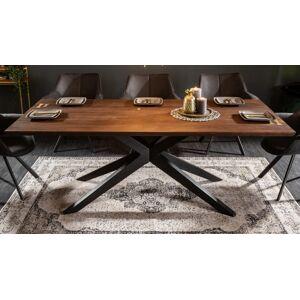 gdegdesign Table à manger industriel bois et métal 200 cm - Nara - Publicité