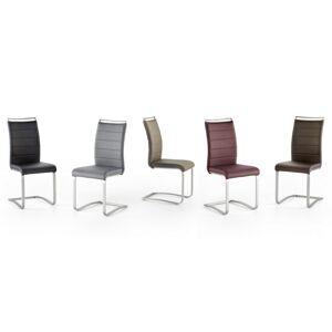 gdegdesign Chaise design simili cuir matelassé et piétement inox brossé - Stow - Publicité