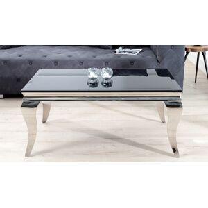gdegdesign Table basse baroque rectangulaire plateau verre noir - Zita - Publicité