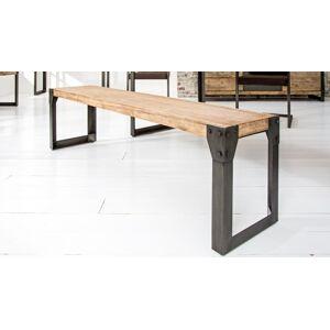 gdegdesign Banc design industriel bois et métal 160 cm - Jorg - Publicité