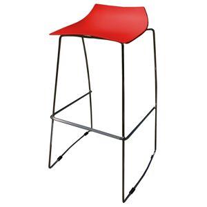 gdegdesign Tabouret de bar rouge chaise haute - Karlito - Publicité