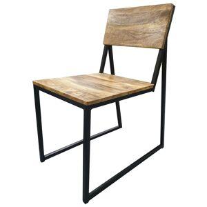 gdegdesign Chaise design industriel bois massif et métal - Gunther - Publicité