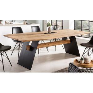 gdegdesign Table à manger rectangulaire bois de chêne clair massif 240 cm - Arvid - Publicité
