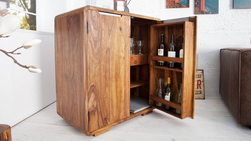 gdegdesign Mini bar design 2 portes en bois de palissandre - Bertol