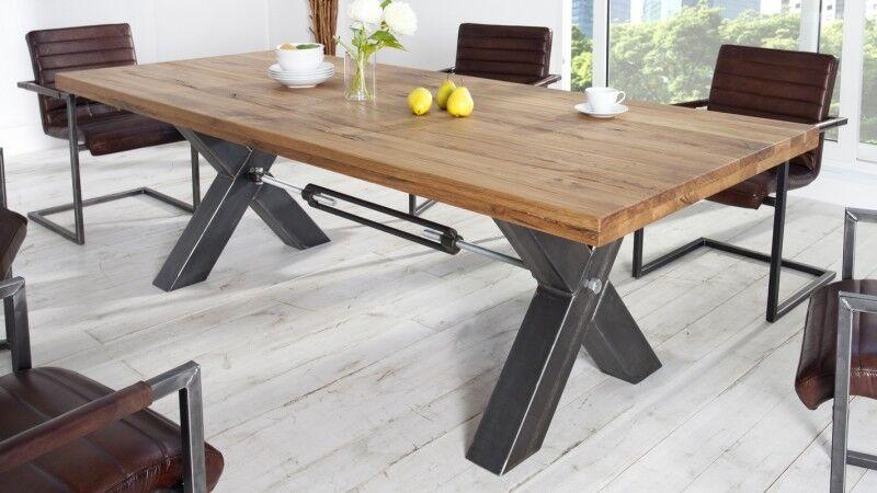 gdegdesign Table à manger rectangulaire bois de chêne foncé massif 200 cm - Jack