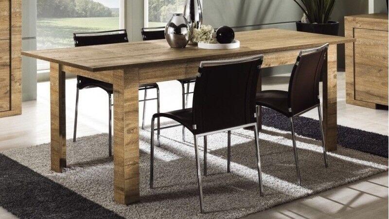 gdegdesign Table à manger bois rallonge 180 cm - Karel