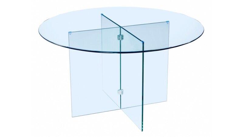 gdegdesign Table à manger ronde en verre - Moe