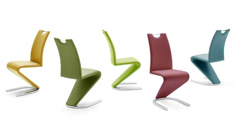 gdegdesign Chaise design simili cuir et piétement métal - Pavel