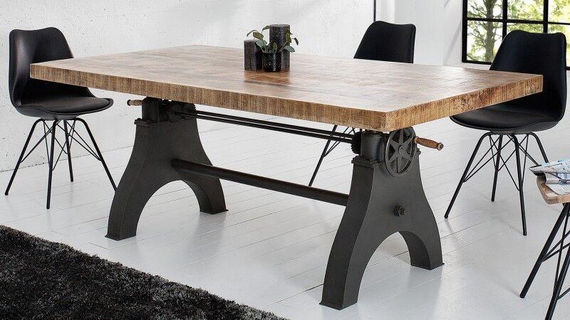 gdegdesign Table à manger industriel bois relevable 200 cm - Taylor