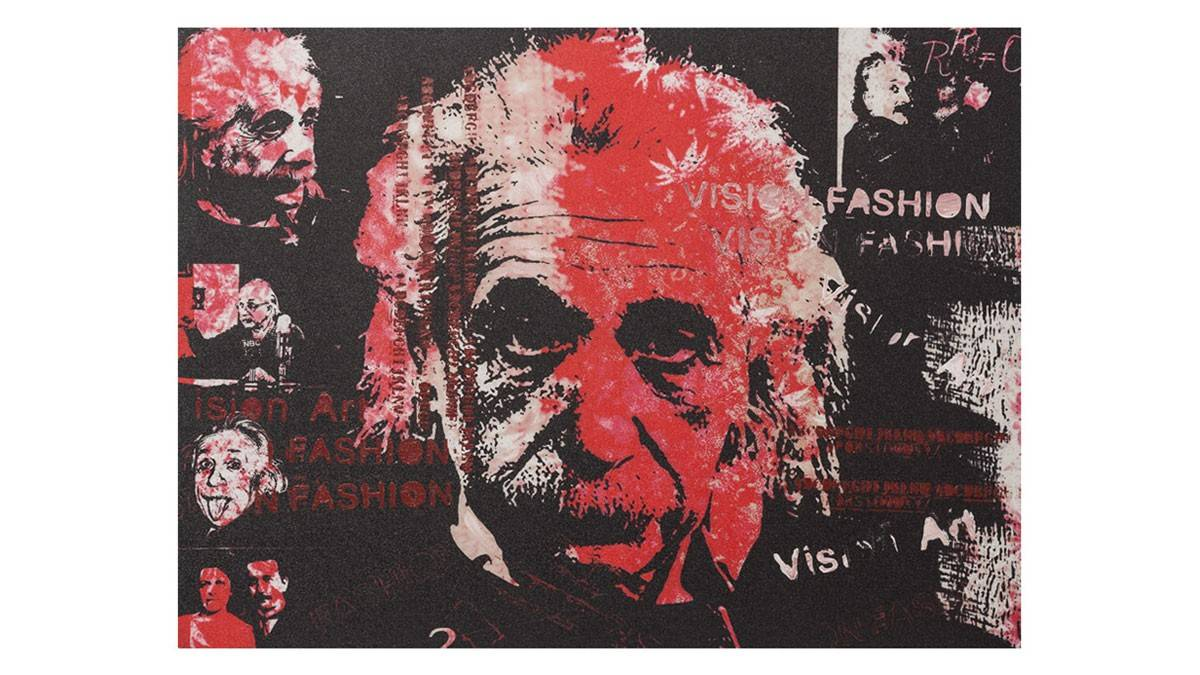 gdegdesign Tableau rectangulaire 120x90 cm Albert Einstein multicolore - Pula