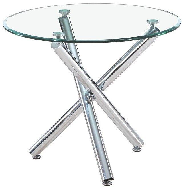 gdegdesign Table à manger ronde en verre - Alex