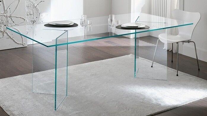 gdegdesign Table à manger rectangulaire en verre - Bogota