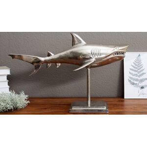 gdegdesign Statue design sur pied requin argenté - Gary - Publicité