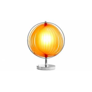 gdegdesign Lampe à poser design boule ronde orange - Moon JR