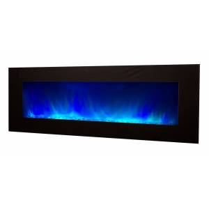 gdegdesign Grande cheminée électrique XXL noire décorative lumineuse LED - Volcano 5XL - Publicité