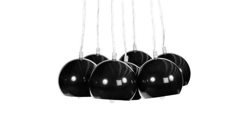 gdegdesign Lustre suspension noire 7 boules - Bilbao