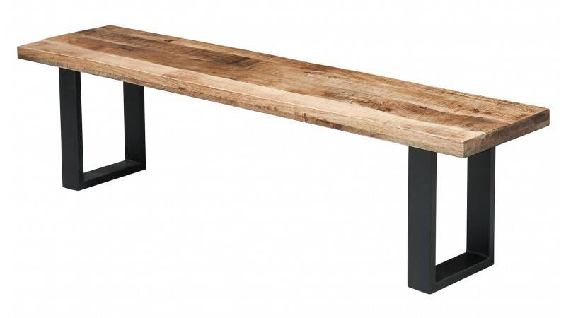 gdegdesign Banc design industriel bois et métal 170 cm - Jaipur