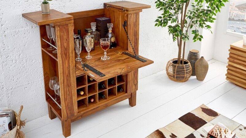 gdegdesign Mini bar design avec plateau et rangement en bois de palissandre - Shankar