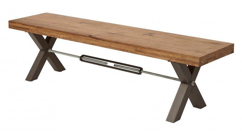 gdegdesign Banc design industriel bois et métal 180 cm - Jack