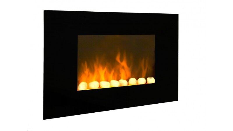 gdegdesign Cheminée électrique noire décorative lumineuse LED - Volcano