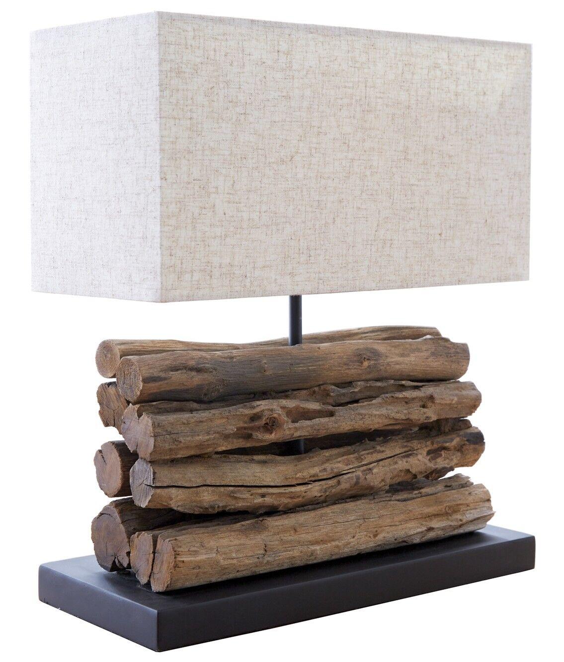 gdegdesign Lampe à poser design bois flotté avec abat-jour - Paxton