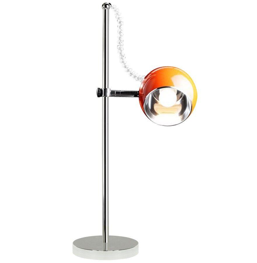 gdegdesign Lampe à poser orange chrome - Keops JR