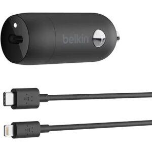 Belkin Chargeur allume-cigare Belkin 18W + Cable lightning