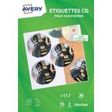 Avery Papier créatif Avery 30 Etiquettes CD