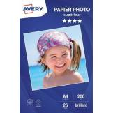 Avery Papier photo Avery 25 Photos brillantes A4 200g/m²