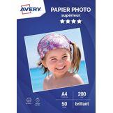 Avery Papier photo Avery 50 Photos brillantes A4 200g/m²