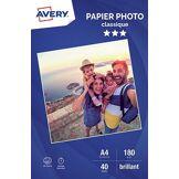 Avery Papier photo Avery 40 Photos brillantes A4 180g