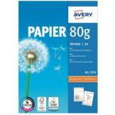 Avery Papier ramette Avery 500 Feuilles multi-usage 80g/m²