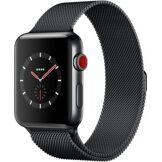 Apple Watch Montre connectée Apple Watch 42MM Acier/Milanais noir Series 3 Cell