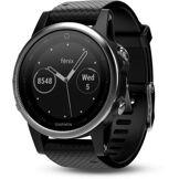 Garmin Montre sport GPS Garmin Fenix 5s HR Silver (bracelet noir)
