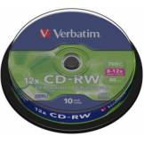 Verbatim CD vierge Verbatim CD-RW 700MB 10PK Spindle 8-12x