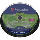 Verbatim CD vierge Verbatim CD-RW 700MB 10PK Spindle 8-12x