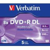 Verbatim DVD vierge Verbatim DVD+R Double 8.5GO 5PK Double layer 8x