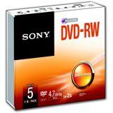Sony DVD vierge Sony DVD-RW Slim case 4.7GB X5