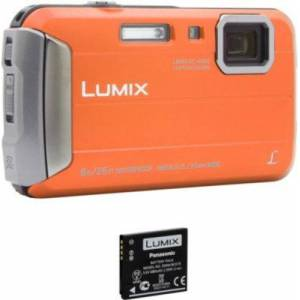 Panasonic Appareil photo Compact Panasonic DMC-FT30 Orange + 2ème batterie