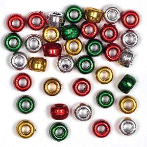 Baker Ross Paquet économique de Perles de Nol métalliques (Paquet de 300) Loisirs créatifs festifs pour Enfants - Publicité