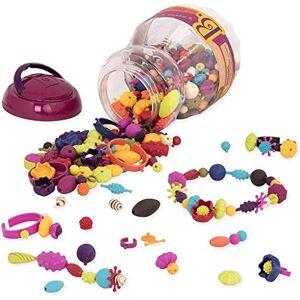 B. toys by Battat Ensemble de perles  enfiler (500 pices)  Pop Arty!  Kit pour confectionner les bijoux Colliers, bagues, et bracelets créatifs  Pour enfants de 4 ans et plus - Publicité