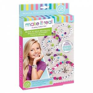 Make It Real 1205 Bloc n  Rock Bracelets Alphabet Letter Perles & Charms Bracelet Faire Kit pour Les Filles - Publicité