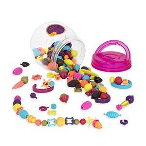 B. toys by Battat B. toys  Ensemble de perles  enfiler (150 pices)  Pop Arty!  Kit pour confectionner les bijoux Colliers, bagues, et bracelets créatifs  Pour enfants de 4 ans et plus - Publicité