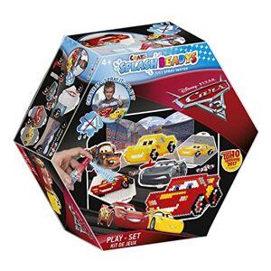 CRAZE fusibles Pixar Cars Splash BEADYS Jeu de Voitures 3 pour confectionner des Perles d'eau Douce comme Jouet 59389, Multicolore - Publicité