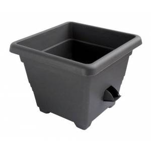 Plastia – Pot à réserve d'Eau Bergamot 30 x 30 cm, Anthracite - Publicité