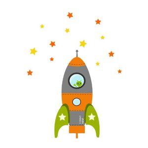 Stickerscape tre mis  feu fusée sticker mur par  Autocollants Orange (Ensemble d'autocollant grand) - Publicité