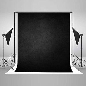 Kate 6.510ft (23m) Portrait Noir Photographie Toile de Fond Abstrait Fond Noir pour Photographe Toile de Coton sans Soudure Toile de Fond Rides Gratuites - Publicité
